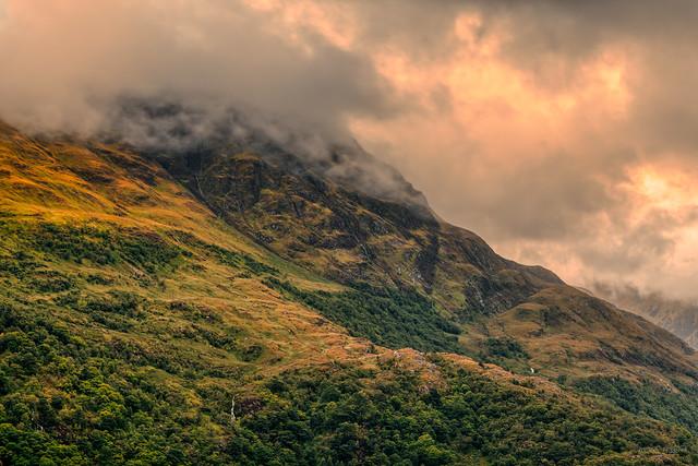 Smokin' mountains at Loch Leven, Scotland.