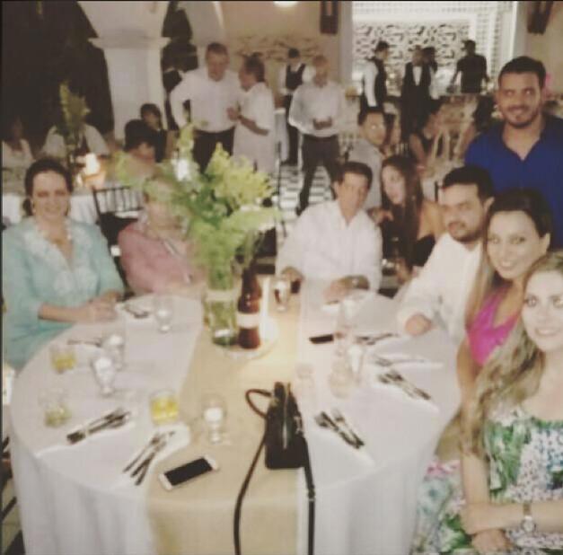 Recepción privada del Centro Democrático celebrada en diciembre de 2017 aparecen en ella la senadora uribista María Fernanda Cabal y el ganadero José Félix Lafaurie.