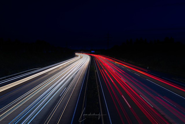 Light Trails - German Autobahn
