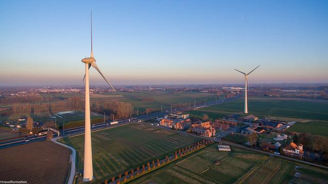 drone22 - windmills wetteren