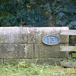 Recently uncovered bridge number on the canal at Preston