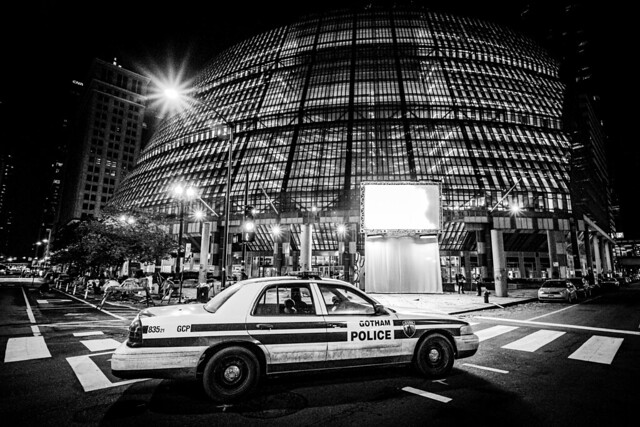 The Batman Filming 2020 | City of Gotham Police Department Vechicle / Thompson Center | of Gotham / Chicago Film Noir Black & White edit