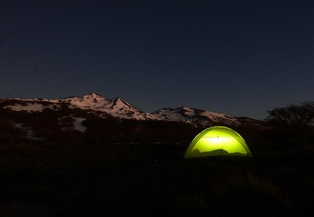 Campamento en el Nevado Chillán