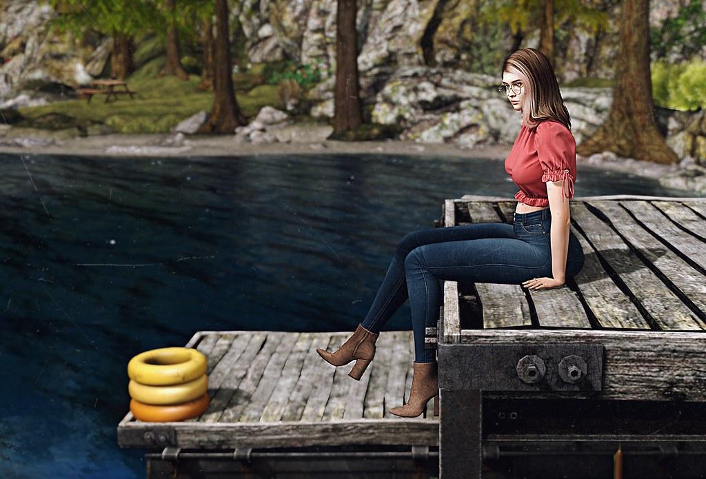 I found a hidden lake...