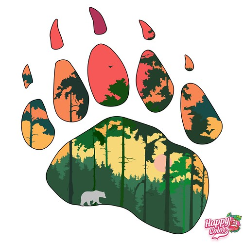 Forest Paw Print by Flamekit | by BlogClan