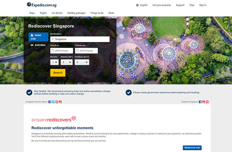Singapore Tourism Board and Expedia
