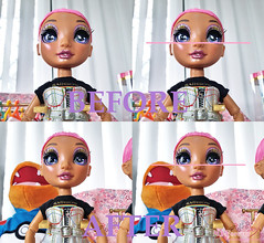 Rainbow High Avery Styles - fixing deformed face