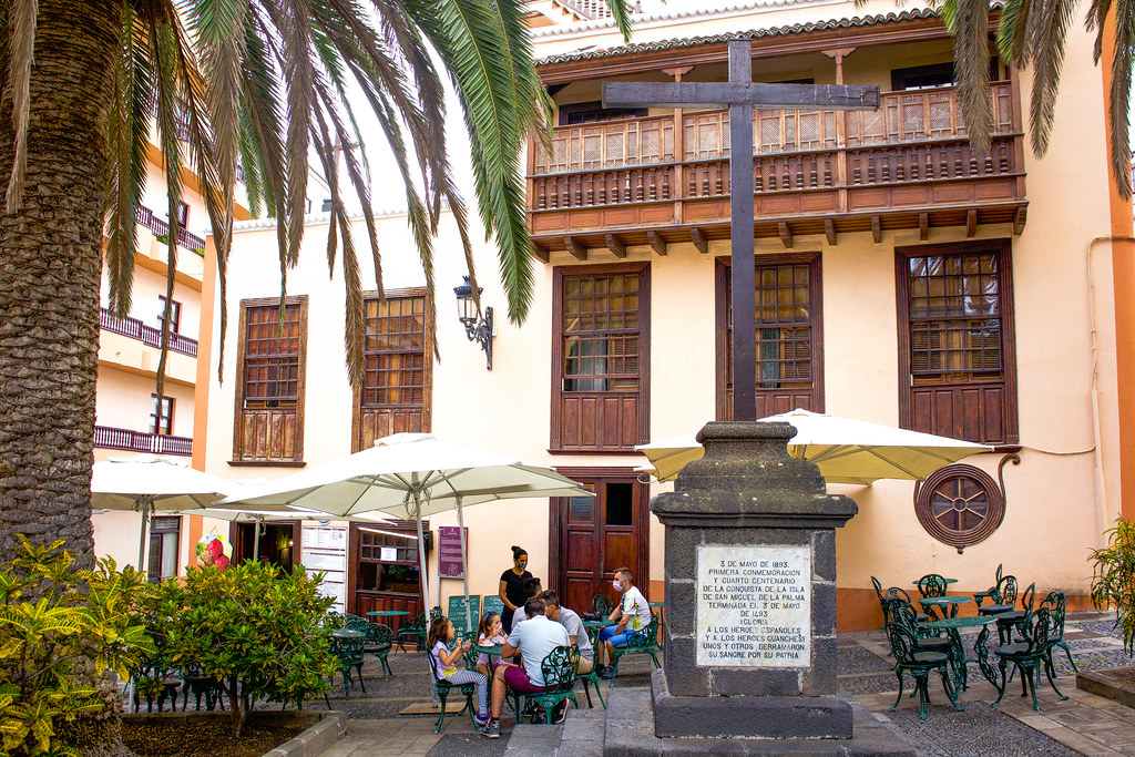 Cruz del Tercero en la plaza de La Alameda en Santa Cruz de La Palma