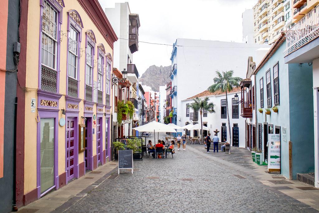 Calle Anselmo Pérez de Brito en Santa Cruz de La Palma