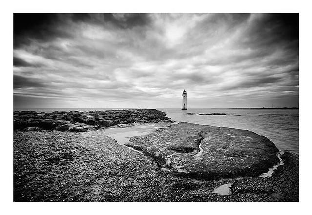 Perch Rock Lighthouse. River Mersey.