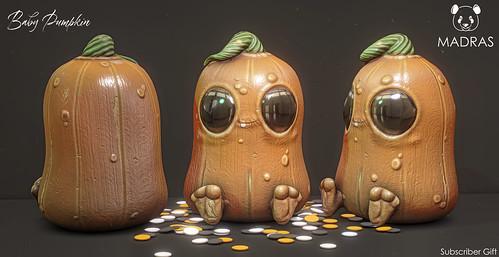 Baby Pumpkin & Confetti Dots Decor MADRAS Subscriber Gift