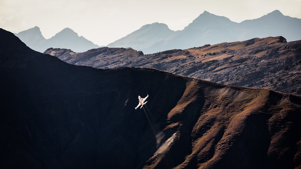 Patrouille Suisse Solo Display during the Axalp live firing demo