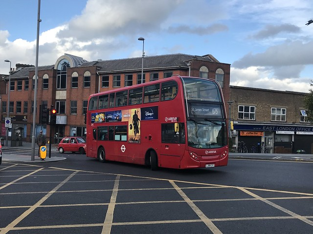 Arriva London (T53 LJ08CYF) on the Route 675 at Walthamstow Central