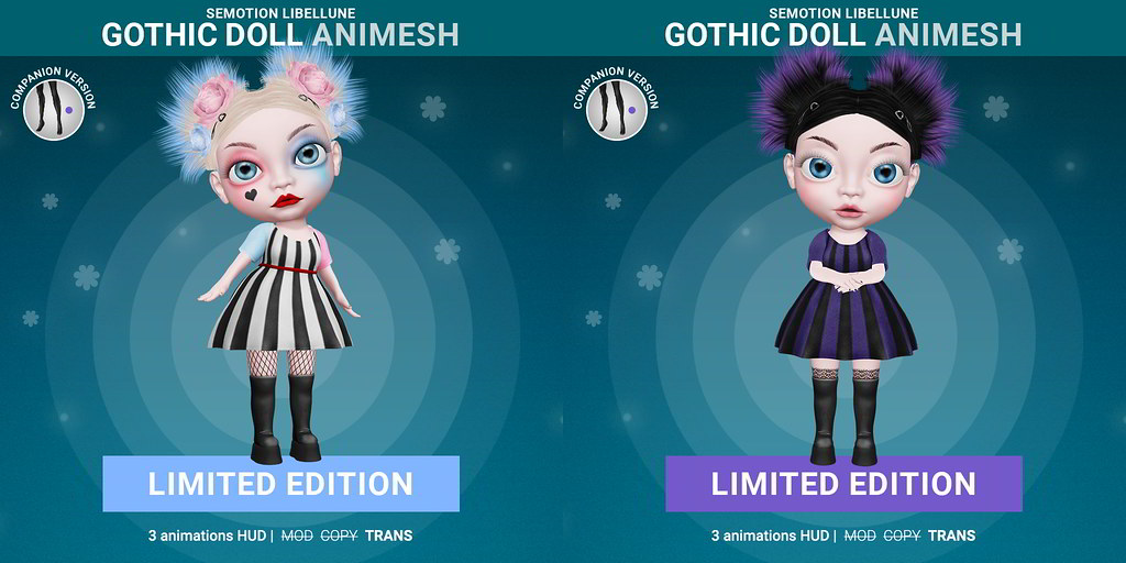 SEmotion Libellune Gothic Girl Animesh LIMITED