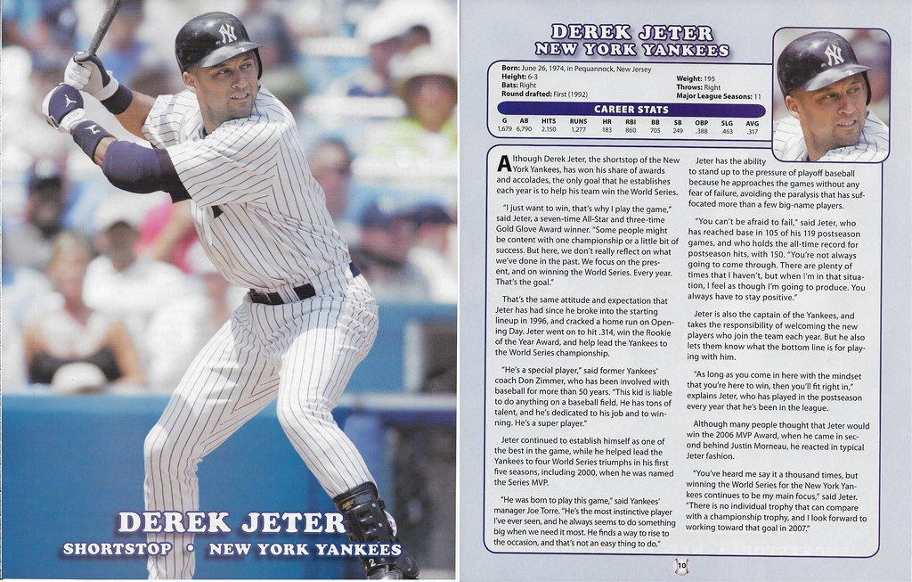 2007 Baseball Superstars Album Posters (Derek Jeter)
