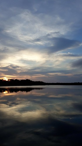 sunset clouds nj colliersmills jackson newjersey water