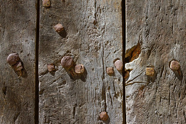 Vieille porte : rides et cicatrices... (Old door : wrinkles and scars)