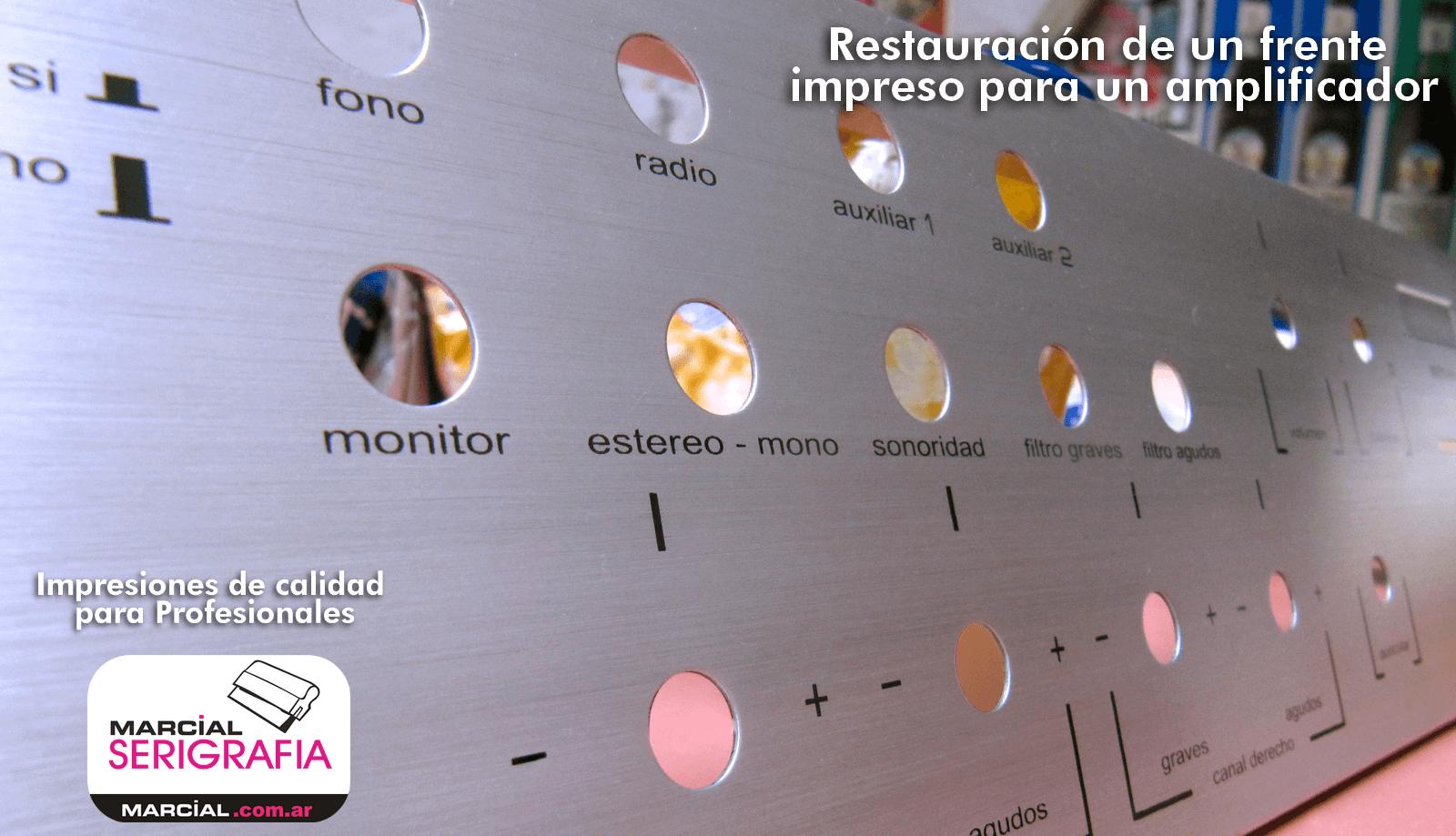 impresión restaurada de un panel amplificador