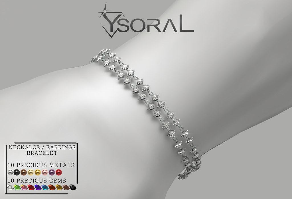 ~~ Ysoral ~~ .:Luxe Diamond Necklace Earrings & Bracelet:.