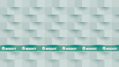 Virtual Background 20 - WSDOT logo with textured wall