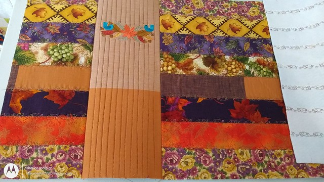panel inserted and quilted