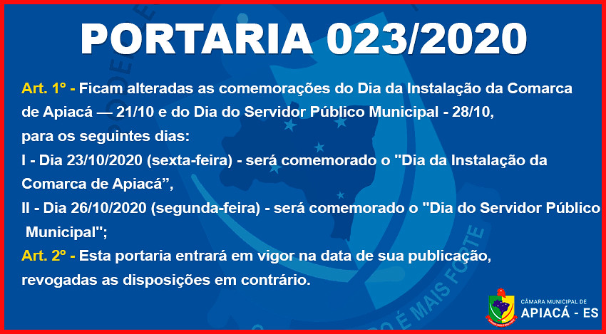 Portaria 023/2020