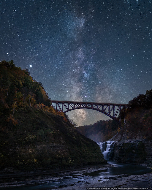 Milky Way over Letchworth
