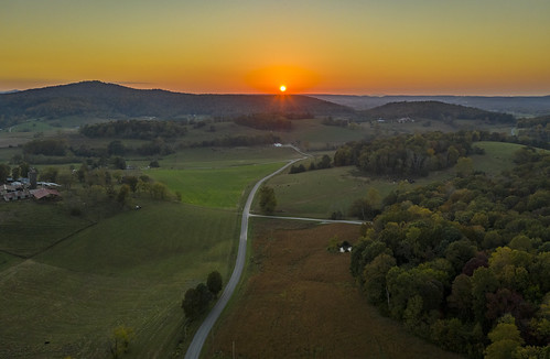 whitecounty tennessee tn aerial drone fall autumn sunset uppercumberland