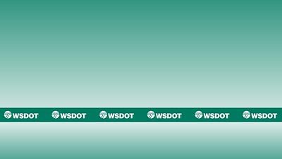 Virtual Background 21 - WSDOT logo on green gradient