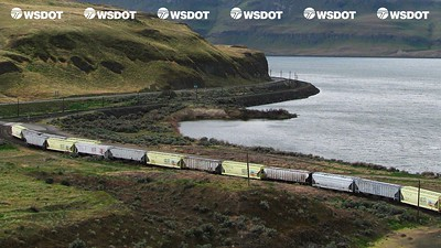 Virtual Background 11 - Freight Train along river