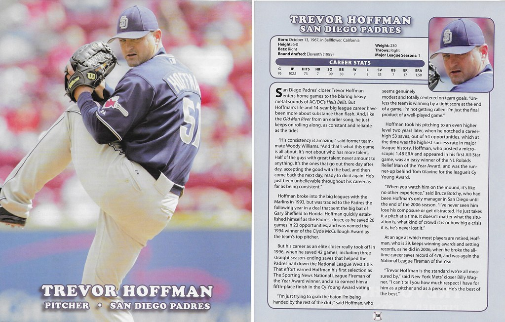 2007 Baseball Superstars Album Posters (Trevor Hoffman)