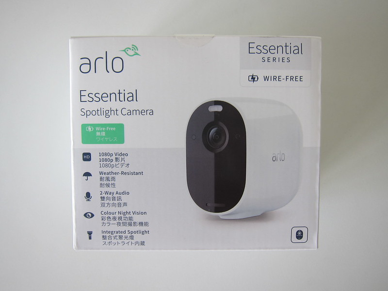 Arlo Essential Spotlight Camera - Box Front