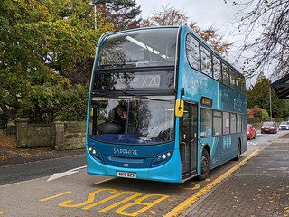 Arriva Durham County 7540/NK15DZS on hire to Ashington operating the X20