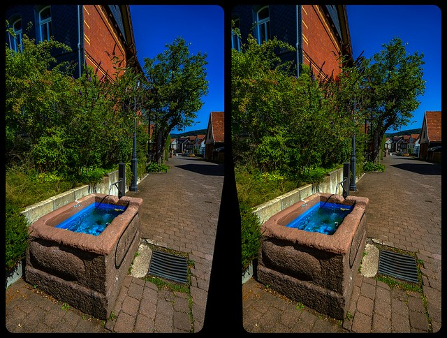 Brotterode well 3-D / CrossView / Stereoscopy