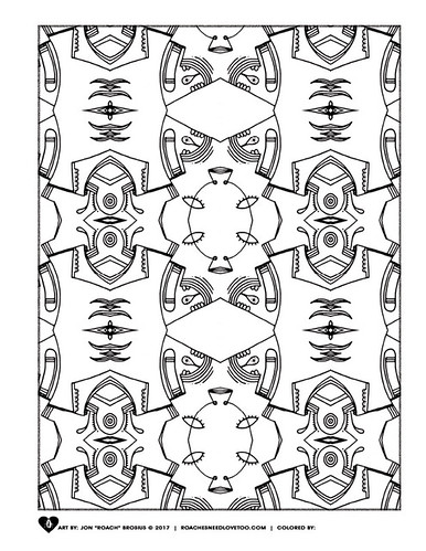 Mandala and Pattern Art Coloring Page
