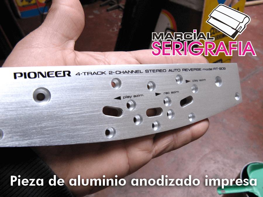 Aluminio anodizado impreso