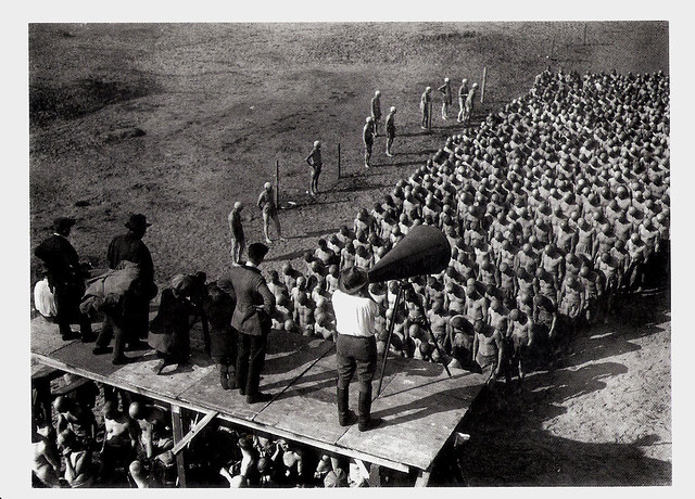 Fritz Lang at the set of Metropolis (1926)