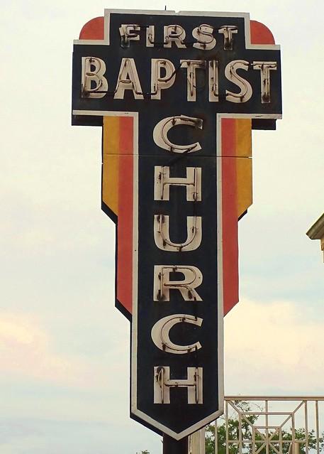FL, Lake City-U.S. 90 First Baptist Church Neon Sign