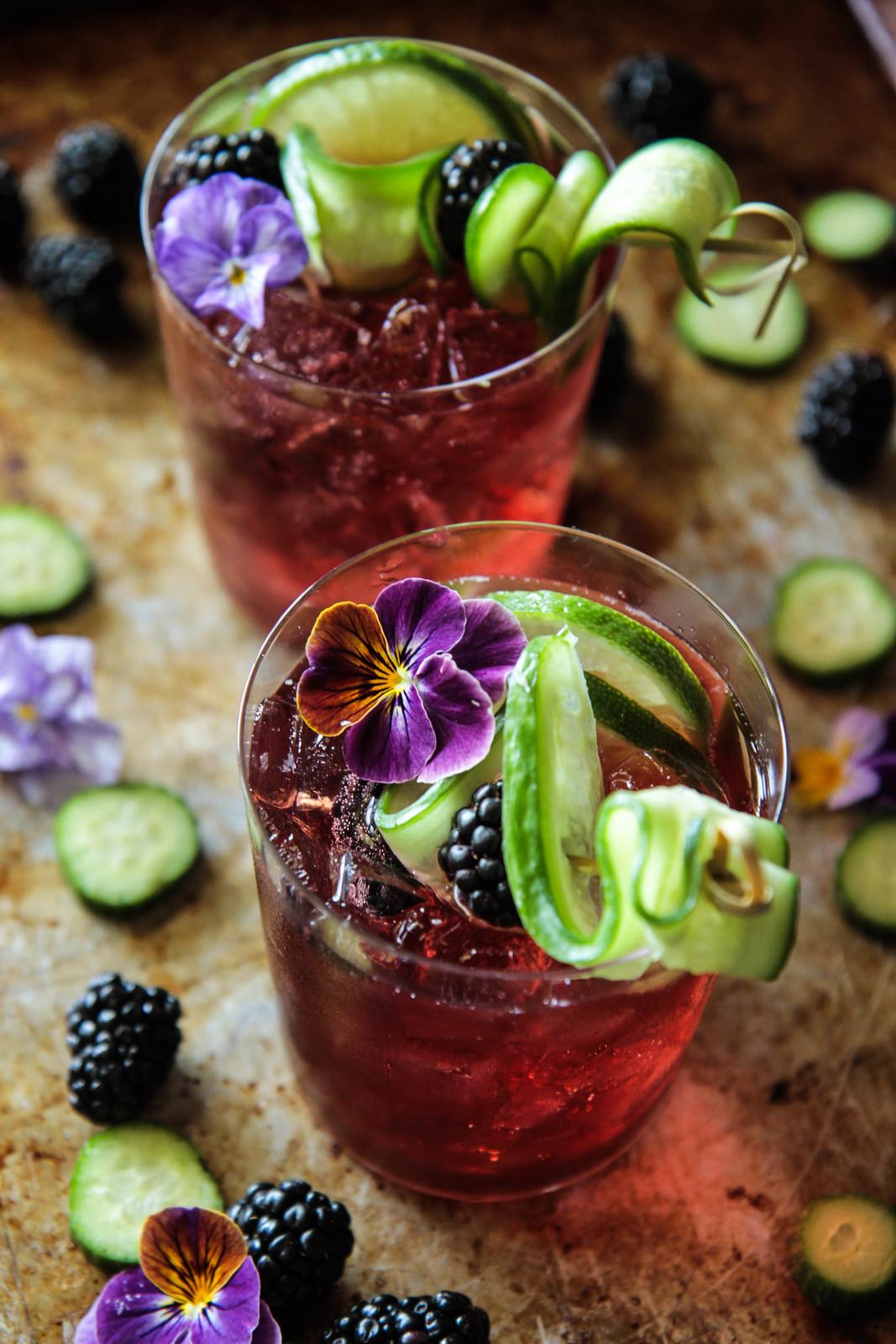 黑莓杜松子酒和补品从HeatherChristo.com
