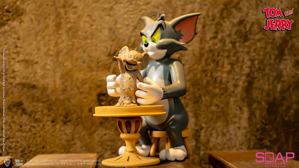 Soap Studio《湯姆貓與傑利鼠》雕塑家湯姆 公開!聚精會神的藝術家姿態~