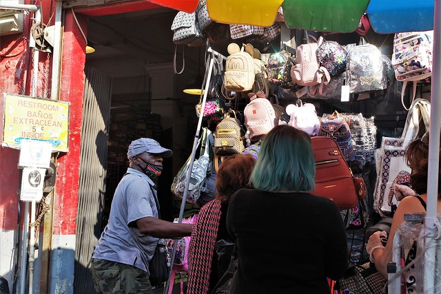Man Selling His Wares - Garment District L.A.