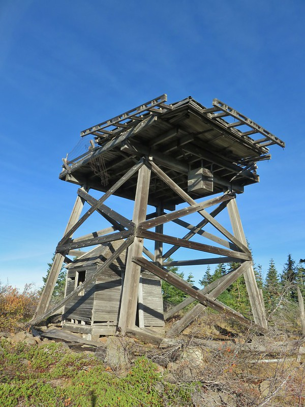 Old lookout tower on Abbott Butte