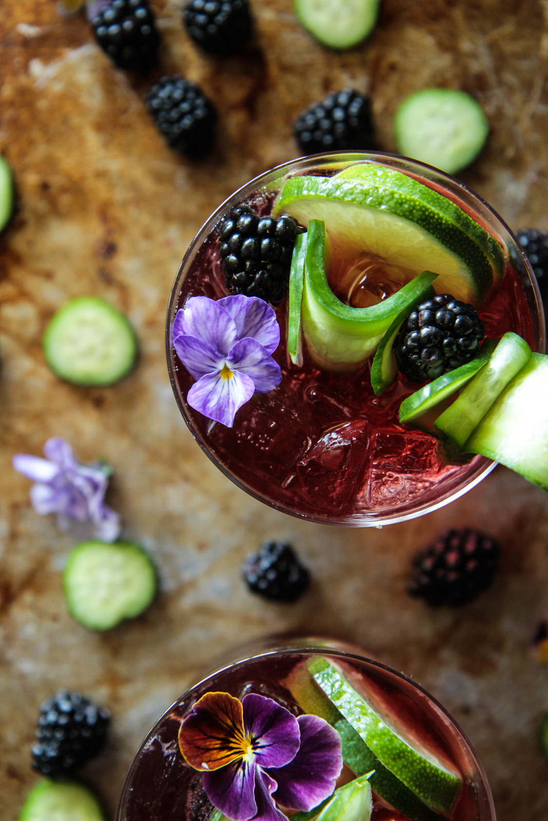 Blackberry Gin and Tonics from HeatherChristo.com