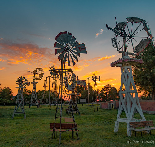 windmillmuseum shattuck ok windmills sunset