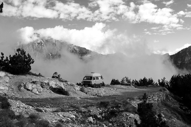 Teth Valley, Northern Albania. VW T3 Syncro.