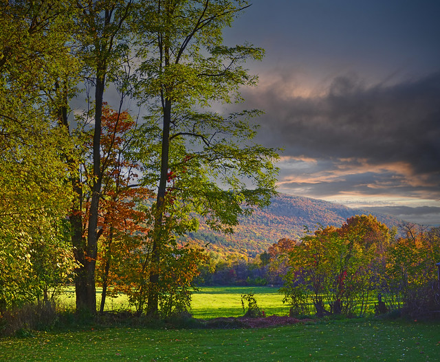 Back Yard Sundown - Schoharie County N.Y.