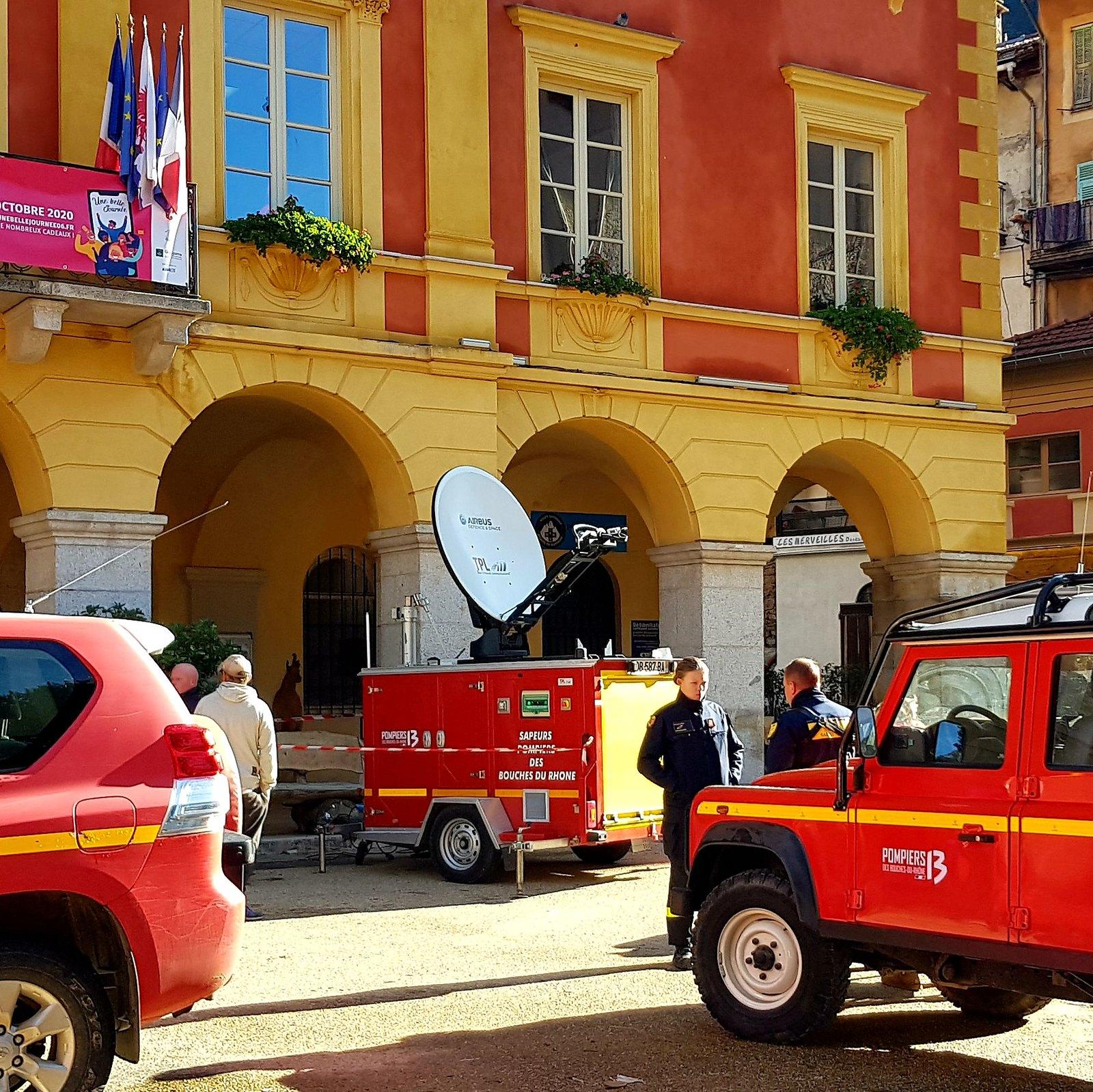 Fin de mission pour les Pompiers13 en renfort dans les Alpes-Maritimes