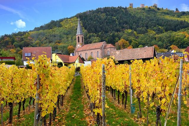 Husseren-les-Châteaux (Haut-Rhin, F)