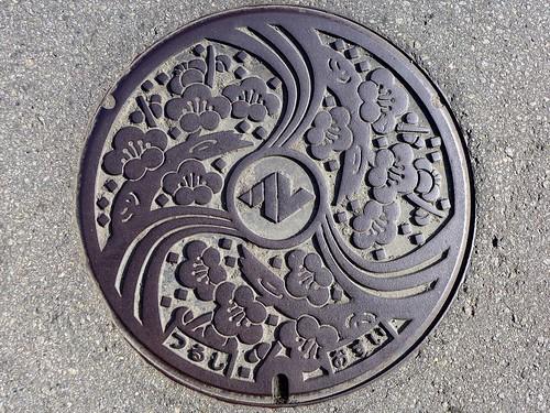 Tsuru Yamanashi, manhole cover (山梨県都留市のマンホール)