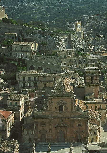 Italy - Modica (Church of Saint Peter and Clock Tower)